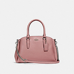 COACH F28977 Mini Sage Carryall SILVER/DUSTY ROSE