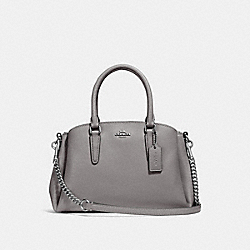 COACH F28977 - MINI SAGE CARRYALL HEATHER GREY/SILVER