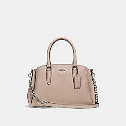 COACH F28977 - MINI SAGE CARRYALL SILVER/LIGHT PINK