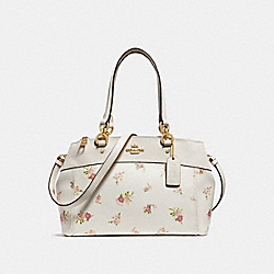COACH F28978 Mini Brooke Carryall With Daisy Bundle Print CHALK MULTI/IMITATION GOLD