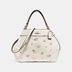 SMALL LEXY SHOULDER BAG WITH DAISY BUNDLE PRINT - f28979 - CHALK MULTI/IMITATION GOLD