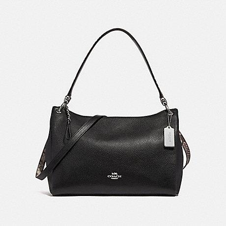 COACH f28987 MIA SHOULDER BAG BLACK/MULTI/SILVER