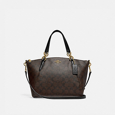 21e6dde22b ... coupon for coach f28989 small kelsey satchel in signature canvas brown  black light gold d42ba 569ff