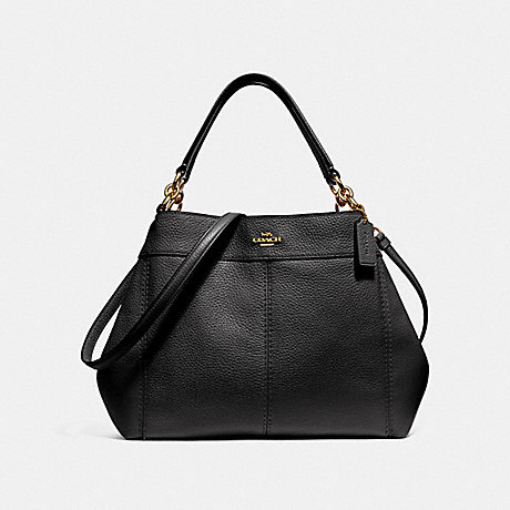 COACH F28992 SMALL LEXY SHOULDER BAG BLACK/LIGHT-GOLD