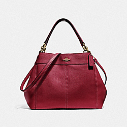 SMALL LEXY SHOULDER BAG - F28992 - CHERRY /LIGHT GOLD