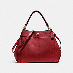SMALL LEXY SHOULDER BAG - F28992 - RUBY/LIGHT GOLD