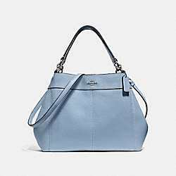 SMALL LEXY SHOULDER BAG - F28992 - CORNFLOWER/SILVER