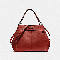 COACH F28992 Small Lexy Shoulder Bag WASHED RED/SILVER