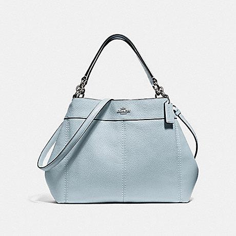 COACH F28992 SMALL LEXY SHOULDER BAG SILVER/PALE-BLUE