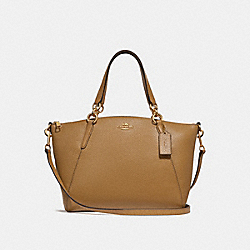 SMALL KELSEY SATCHEL - f28993 - LIGHT SADDLE/IMITATION GOLD