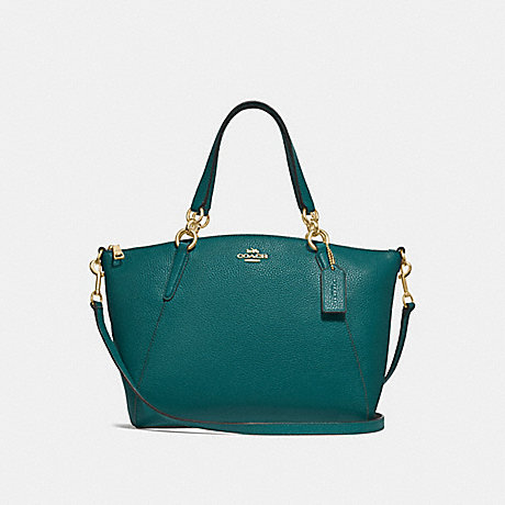 COACH F28993 SMALL KELSEY SATCHEL DARK-TURQUOISE/LIGHT-GOLD