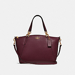 SMALL KELSEY SATCHEL - F28993 - RASPBERRY/LIGHT GOLD