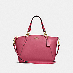 SMALL KELSEY SATCHEL - F28993 - ROUGE/GOLD