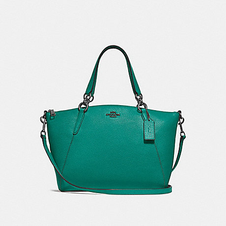 COACH F28993 SMALL KELSEY SATCHEL<br>蔻驰小凯尔! TEAL/黑色古董镍