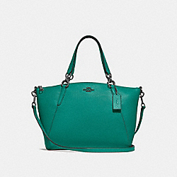SMALL KELSEY SATCHEL - F28993 - TEAL/BLACK ANTIQUE NICKEL