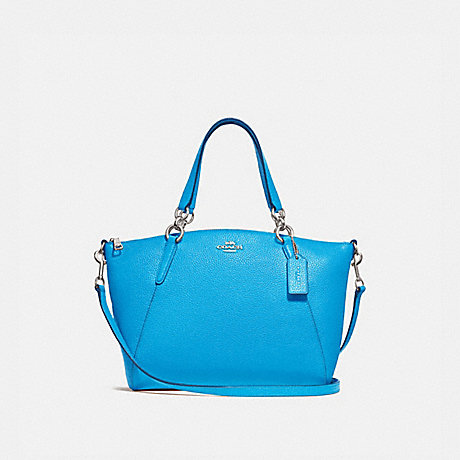 COACH f28993 SMALL KELSEY SATCHEL BRIGHT BLUE/SILVER
