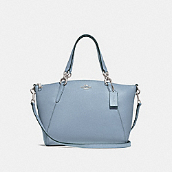 SMALL KELSEY SATCHEL - F28993 - CORNFLOWER/SILVER