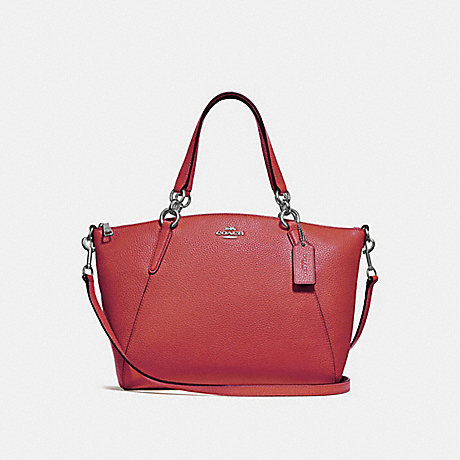 COACH F28993 SMALL KELSEY SATCHEL WASHED RED/SILVER