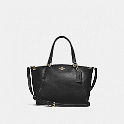 MINI KELSEY SATCHEL - f28994 - BLACK/IMITATION GOLD
