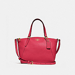 MINI KELSEY SATCHEL - f28994 - TRUE RED/light gold