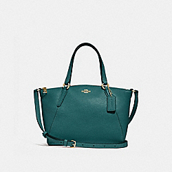 MINI KELSEY SATCHEL - F28994 - DARK TURQUOISE/LIGHT GOLD