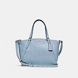 MINI KELSEY SATCHEL - F28994 - CORNFLOWER/SILVER