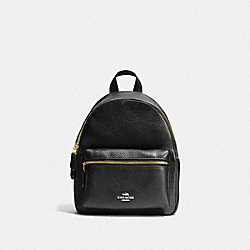 COACH MINI CHARLIE BACKPACK - BLACK/LIGHT GOLD - F28995