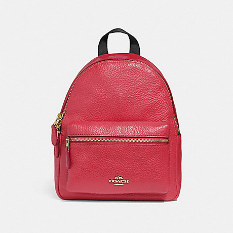 COACH F28995 MINI CHARLIE BACKPACK TRUE-RED/LIGHT-GOLD