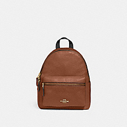 MINI CHARLIE BACKPACK - F28995 - SADDLE 2/LIGHT GOLD