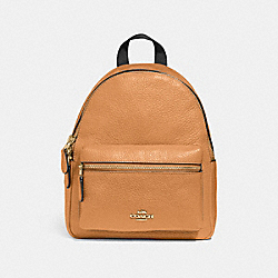 MINI CHARLIE BACKPACK - f28995 - LIGHT SADDLE/light gold
