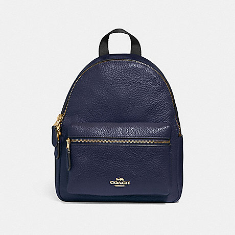 COACH f28995 MINI CHARLIE BACKPACK MIDNIGHT/IMITATION GOLD