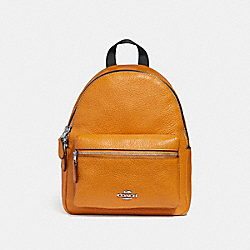 COACH F28995 Mini Charlie Backpack SILVER/TANGERINE