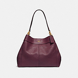 COACH F28997 Lexy Shoulder Bag RASPBERRY/LIGHT GOLD