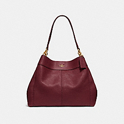 LEXY SHOULDER BAG - F28997 - WINE/IMITATION GOLD