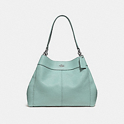 COACH F28997 Lexy Shoulder Bag SILVER/AQUAMARINE