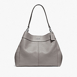 COACH F28997 Lexy Shoulder Bag HEATHER GREY/SILVER