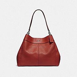 COACH F28997 Lexy Shoulder Bag WASHED RED/SILVER