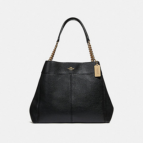 COACH F28998 LEXY CHAIN SHOULDER BAG BLACK/LIGHT-GOLD