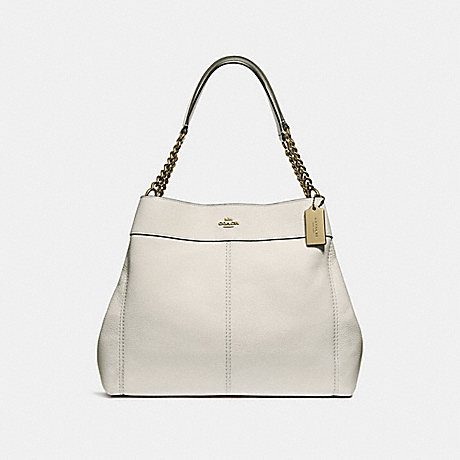 COACH F28998 LEXY CHAIN SHOULDER BAG CHALK/LIGHT-GOLD