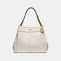 LEXY CHAIN SHOULDER BAG - f28998 - CHALK/LIGHT GOLD