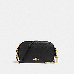 ISLA CHAIN CROSSBODY - COACH f29000 - BLACK/light gold