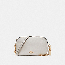 COACH F29000 Isla Chain Crossbody CHALK/LIGHT GOLD