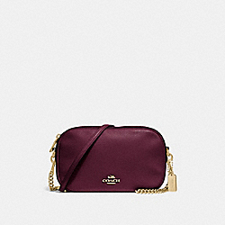 COACH F29000 - ISLA CHAIN CROSSBODY RASPBERRY/LIGHT GOLD