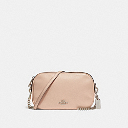 COACH F29000 Isla Chain Crossbody SILVER/LIGHT PINK