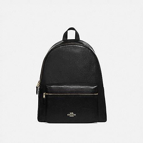 COACH F29004 CHARLIE BACKPACK BLACK/LIGHT-GOLD