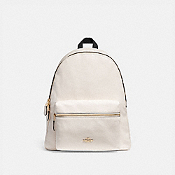 COACH F29004 Charlie Backpack CHALK/LIGHT GOLD