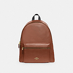 COACH F29004 Charlie Backpack SADDLE 2/LIGHT GOLD