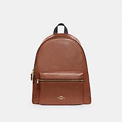 COACH F29004 Charlie Backpack SADDLE 2/LIGHT GOLD