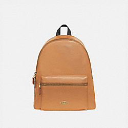 CHARLIE BACKPACK - f29004 - LIGHT SADDLE/light gold