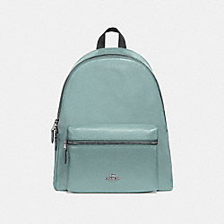 COACH F29004 Charlie Backpack SILVER/AQUAMARINE